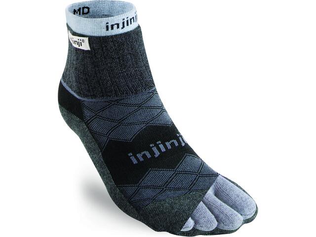 Injinji Liner + Runner Mini-Crew Sokken Heren, blauw/zwart